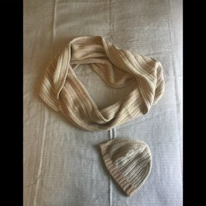 J.crew knit infinity scarf and hat set
